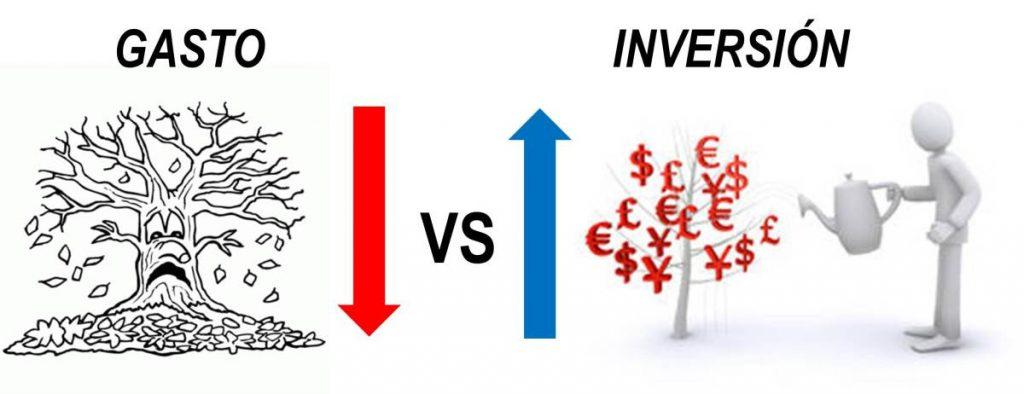 gasto vs inversión
